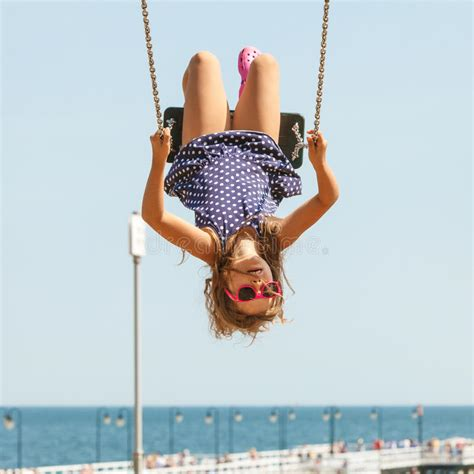 swing girls download playful crazy girl on swing stock photo image of