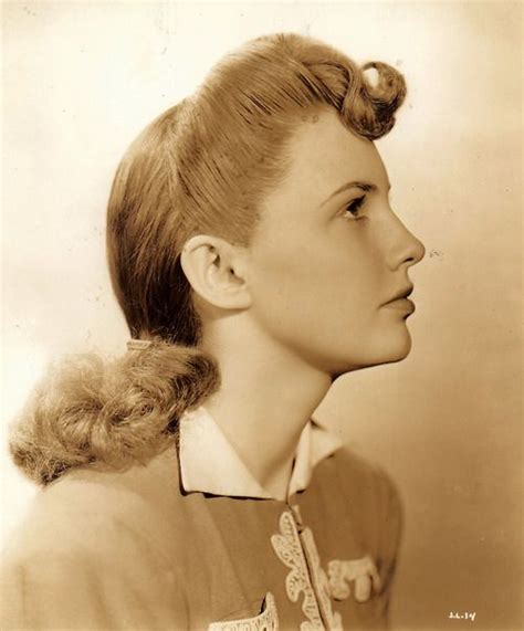 side profile of hairstyles side profile portrait of actress joan leslie as a young