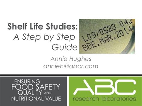 Accelerated Shelf Studies by How To Test The Shelf Of Your Food Product