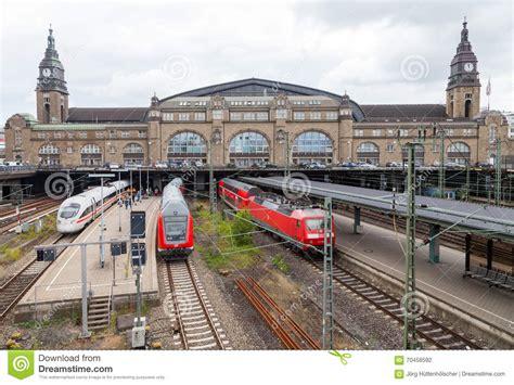 express hamburg germany german trains from deutsche bahn arrives at hamburg
