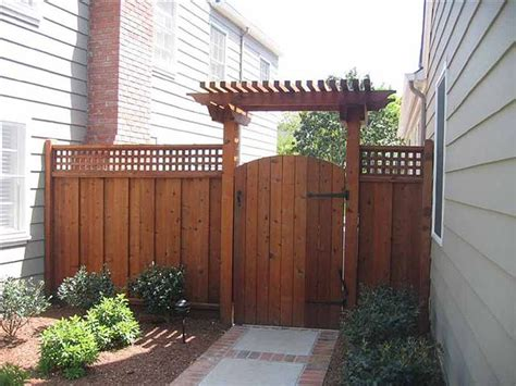 Fencing And Trellis Gate Arbor Pictures Fence With Lattice And