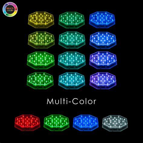 multi color led remote controlled multi color 6 inch octagon led light base
