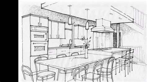 kitchen interior design autocad drawings youtube