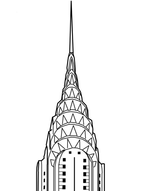 Chrysler Building Drawing by Chrysler Building Drawing Search Ideas