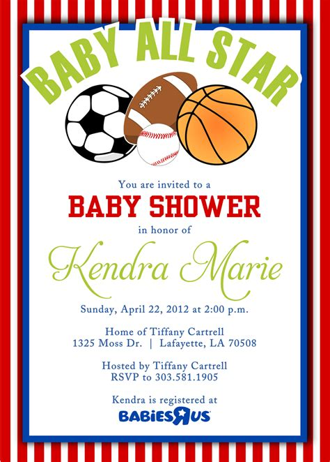 sports baby shower invitations templates cool free template sport themes baby shower invitations