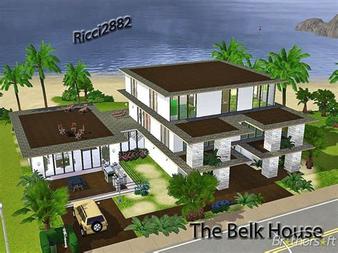 sims 3 xbox 360 house plans sims3 belk house free download