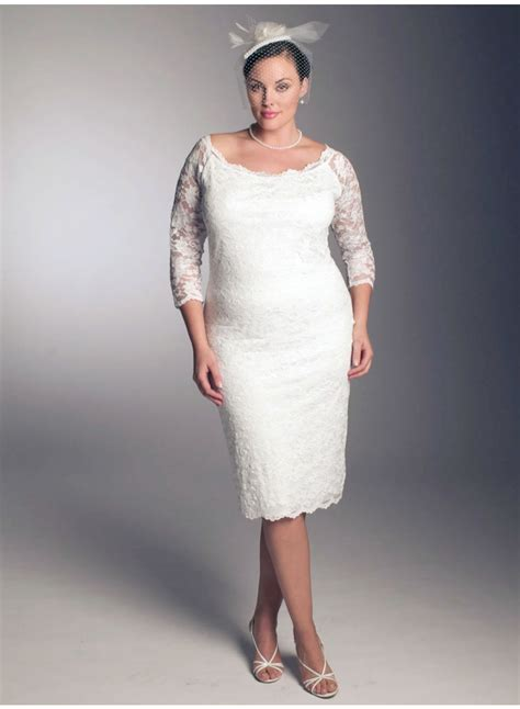 Kurze Hochzeitskleider Mit Spitze by Wonderful Photos Of Plus Size Lace Wedding Dresses