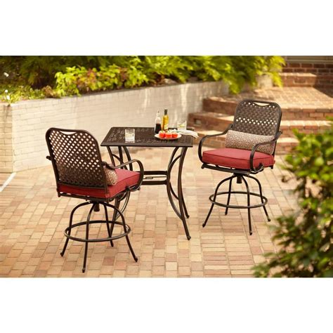 hton bay fall river 3 bar height patio dining set