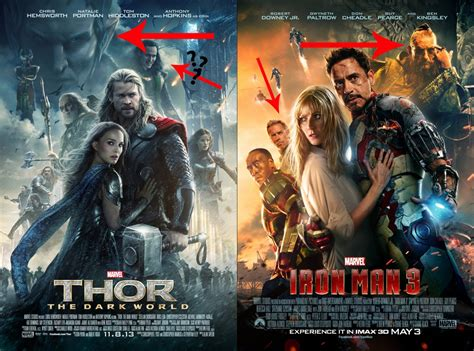 thor 2 vs iron man 3 in marvel battle wtop thor the dark world poster copies iron man 3