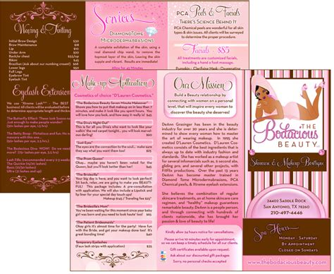 Free Sle Brochure Design Templates by Exles Of Salon Brochure 8 Spa Brochure Design