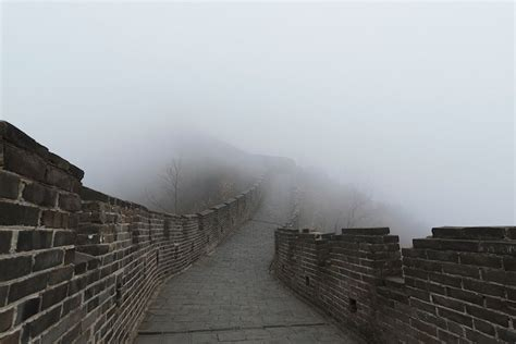 Modern Marvels Great Wall Of China by Photos Show The Foggy Great Wall Of China Without Any