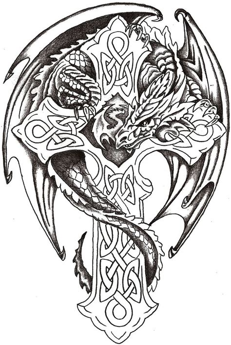 dragon cross tattoo designs 25 best ideas about celtic cross tattoos on
