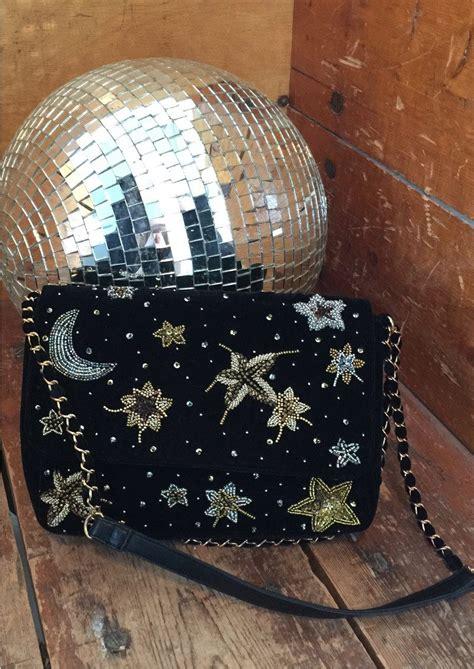 Bisma Black becksondergaard bisma velvet embellished bag black