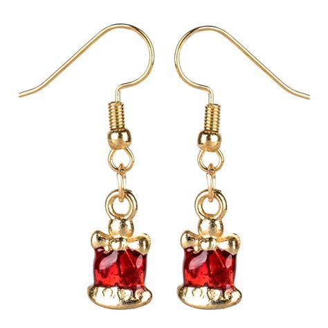 fashion jewelry christmas earrings xmas women drop dangle