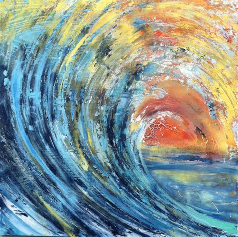 acrylic painting waves official of artist adam brett abstract surf