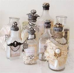 recycled perfume bottles decoration pieces recycled things