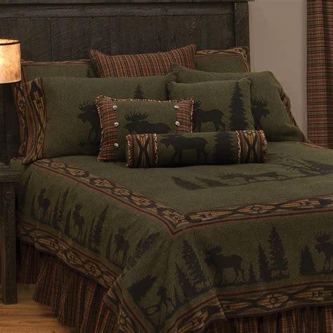 moose bedspread at cabelas moose bedding set castlecreek moose applique chenille comforter set 226569 comforters at