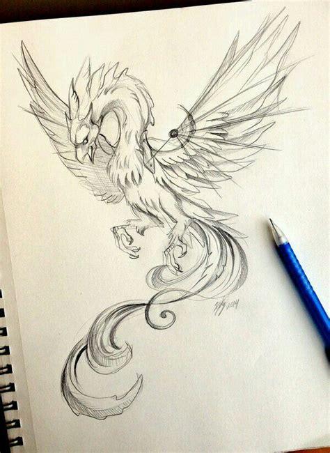tattoo phoenix sketch pin by danica