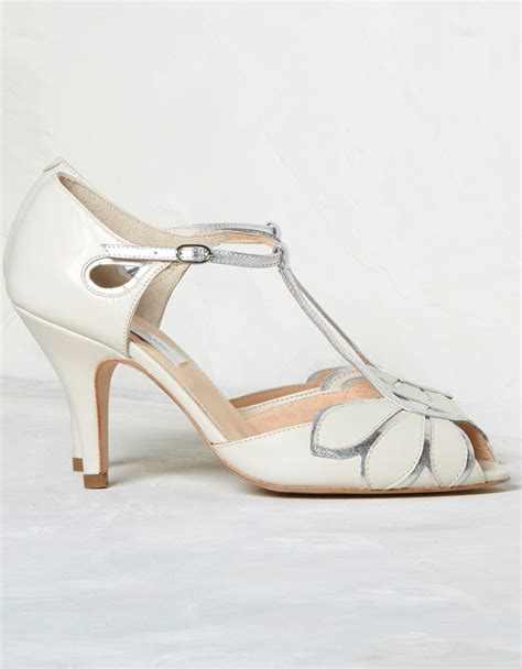 Wedding Shoes Ivory by Mimosa Ivory T Bar Wedding Shoes