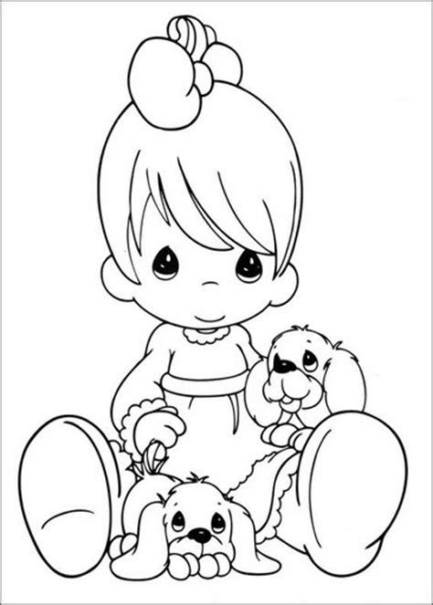 imagenes de niños jugando con globos para colorear dibujo tierno de ni 241 a con perritos para pintar im 225 genes