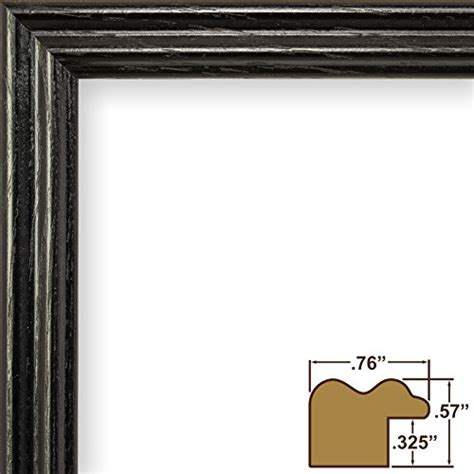 Wood Frame Poster 140 craig frames 200ashbk2436aac 0 75 inch wide picture poster frame in wood grain finish 24 by 36