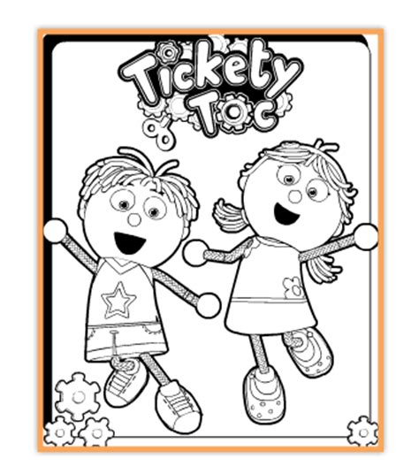 Tickety Toc Coloring Pages all things tickety toc i am an ambassador vip tick