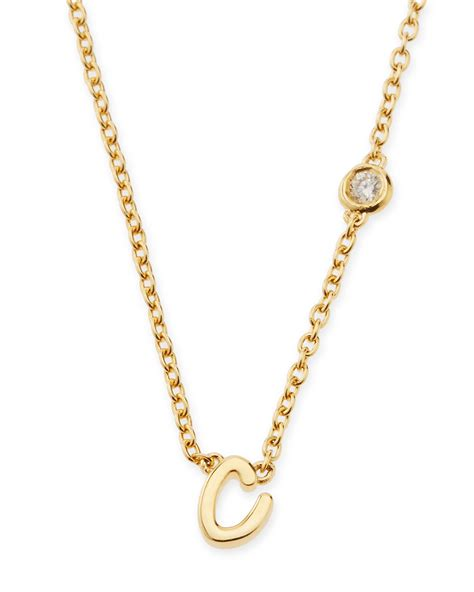 by sydney evan c initial pendant necklace with