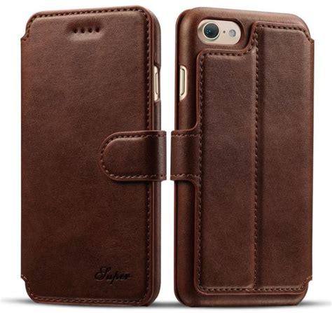Flip Cover Wallet Iphone 7 apple iphone 7 plus luxury flip cover wallet card leather phone stand brown price