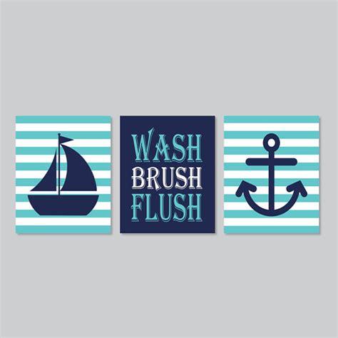 kids nautical bathroom decor kids nautical bathroom decor wash brush flush wall art breeze