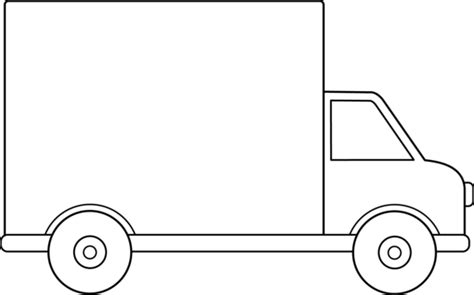 moving truck coloring page delivery truck line art free clip art