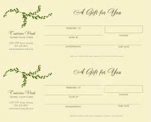 best photos of blank gift certificates for restaurants