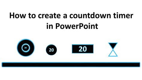How To Create A Countdown Timer In Powerpoint Tekhnologic Countdown Timer For Ppt