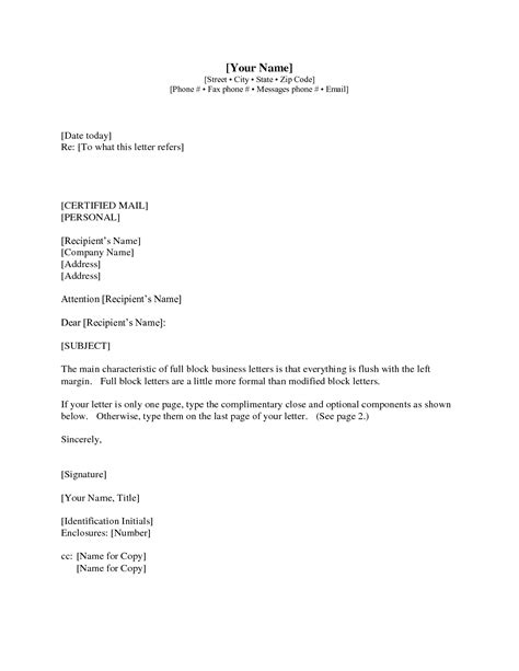 Business Letter Formatting Enclosure Letter Format Cc And Enclosure Best Template Collection