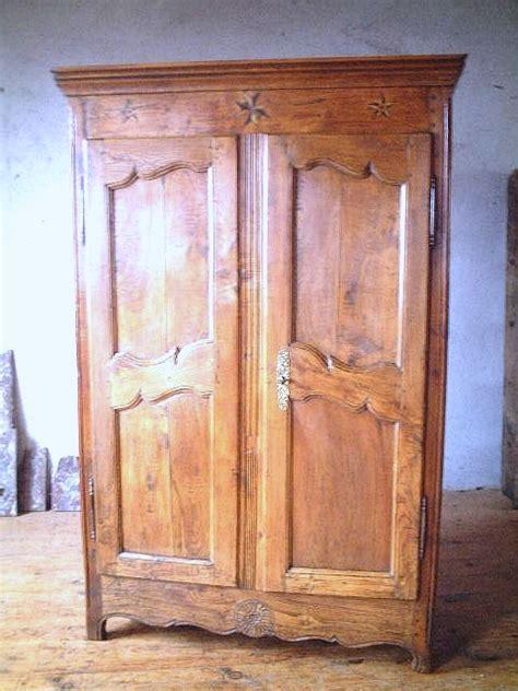 armoire brocante armoires louis xv ormeau merisier ancienne antiquites