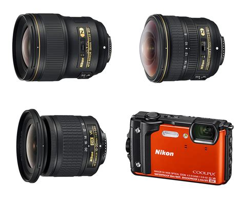 nikon introduces three wide angle lenses and coolpix w300