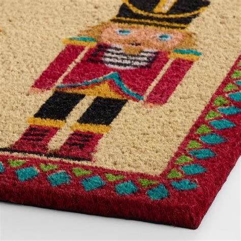 nutcracker rug nutcracker coir doormat world market
