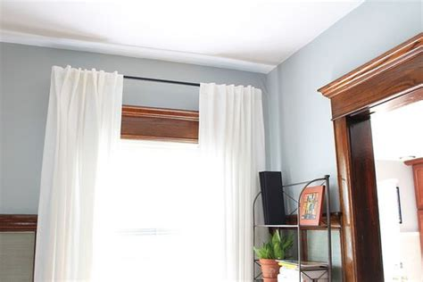 white curtains with gray trim why i ll never paint our wood trim pinterest paint