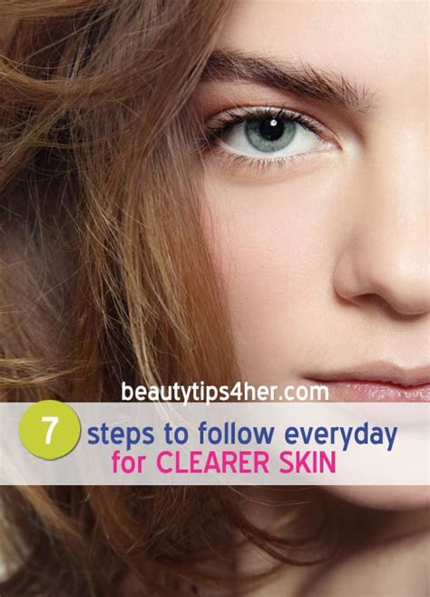 clear 7 steps to clear skin books 7 steps to follow everyday for clearer skin and