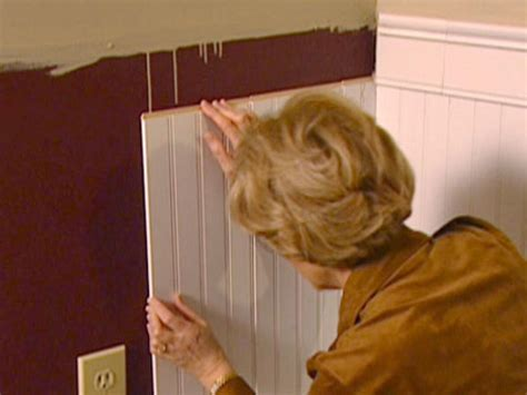 How To Cut Wainscoting Panels by Wainscoting Installation How Tos Diy