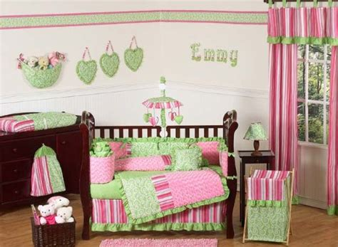 Green And Pink Crib Bedding This Deals Funky Pink And Lime Green Boutique Baby Bedding 9pc Crib Set By Jojo
