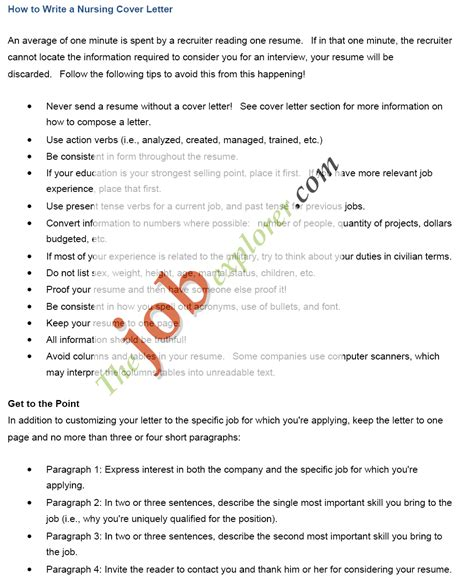 Nurse Cover Letters – Example Resume: Example Cover Letters Nurse Practitioner