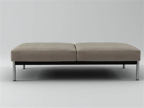 from the bench account helion bench 3d model minotti