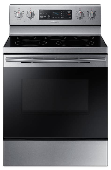 samsung electric range samsung 5 9 cu ft freestanding electric convection range ne59m4320ss ac the brick
