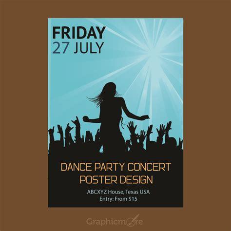 poster design vector file concert party flyer or poster design free vector file