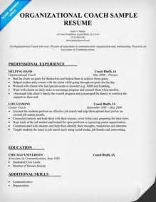 Job Coach Resume by Here Are Free Sample Coach Resumes From Sites Around The Web