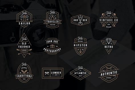 modern retro logo pack logo templates on creative market