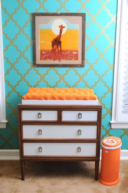 tori spelling s chic and elevated nursery for beau tori spelling shows us son finn s nursery growing your