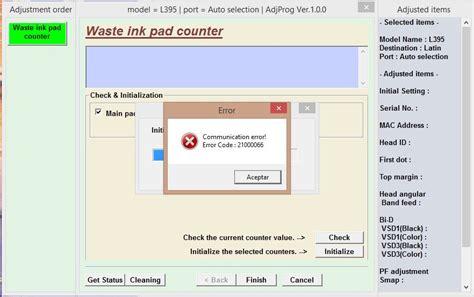 reset epson t50 windows 10 problema con reset a impresora epson l395 yoreparo