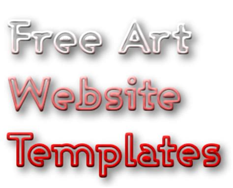 free art templates for designing an online portfolio
