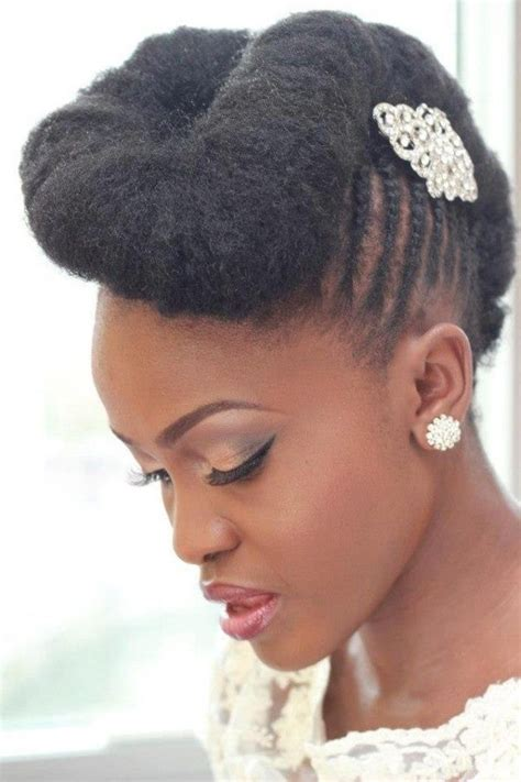 natural hair updo bridal inspired sisiyemmie updo hair for wedding simple wedding hairstyle for black